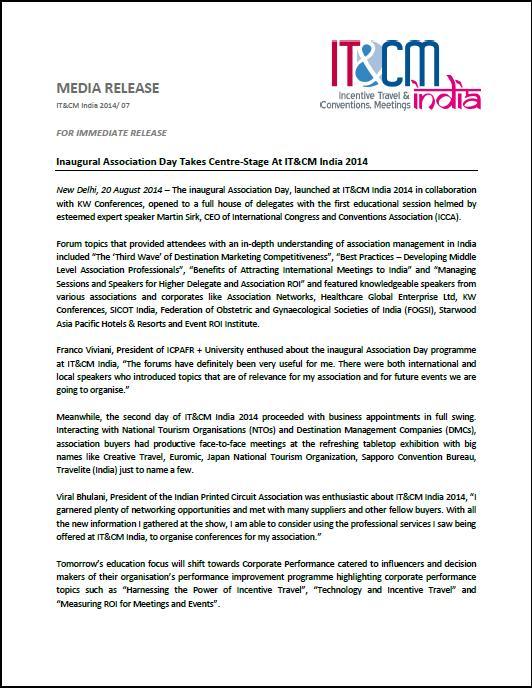 IT & CM India - IT&CM India 2014 Press Releases